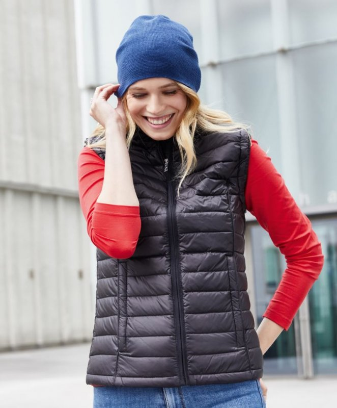 Damen Daunen Bodywarmer, James & Nicholson