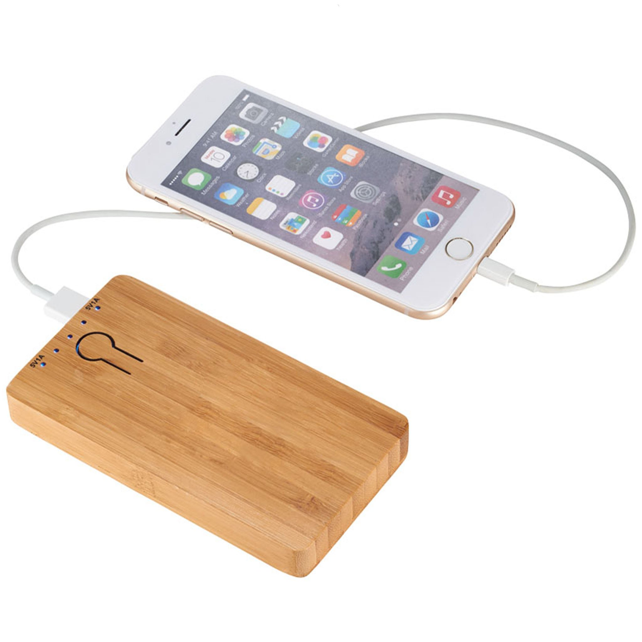 PB-5000 Bamboo Powerbank-WD